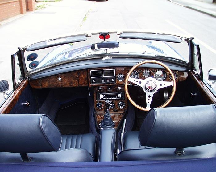 This is my interior all walnut and leather  :)It's handy being a Upholsterer....