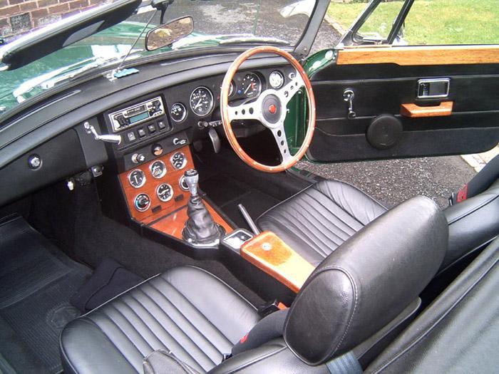 Home made mahogany interior of my 1980 MGB.