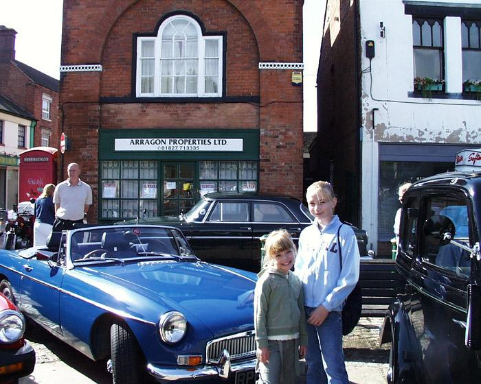 "This is my MG""B"" Roadster and my Kids at Atherstone,Warwickshire Annual Classic car show."
