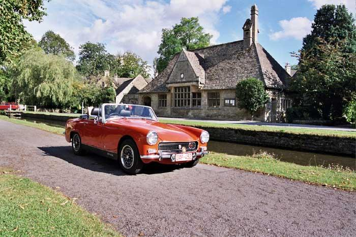 1971 Austin sprite bought around Halloween time in 200, hence her nickname
