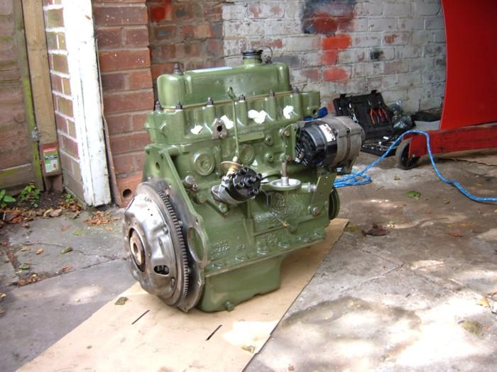My stage 2, home built engine, ready to be dropped into my 1970 MGB GT. With 1868cc capacity and piper 270 cam, it is pictured here with the standard head. This has since been replaced with a gas flowed head. This is far and away the most advanced mechanical work I have done on the car. Far easier than I had expected!I thought I'd paint it green just to be different! It is a colour that is common for A series engines.For more pics see my website, which is linked from the links page.