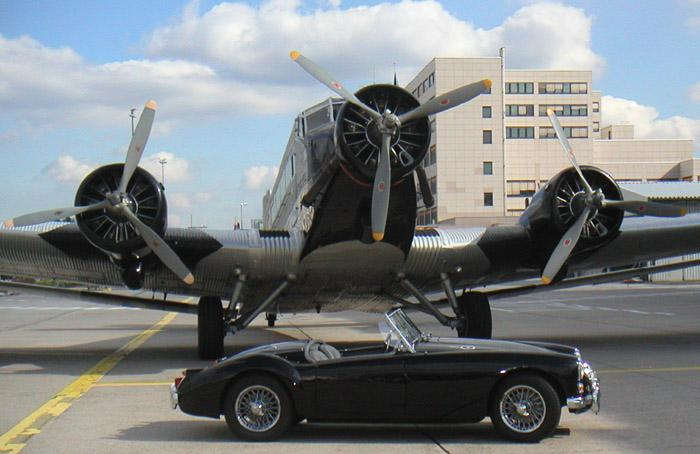 1961 MKI with Junkers JU52. Taken at Lufthansa base in Frankfurt summer 2004.