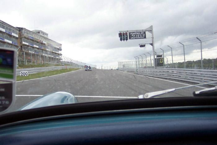 Coming down the Start/Finish straight at Brands...this time chasing a TD!