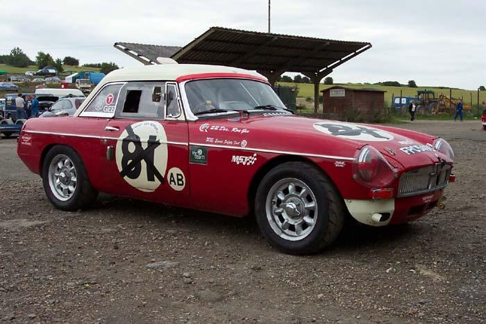 A lovely works MGB (replica?) with FIA papers that popped into Lydden during a race meeting in '04