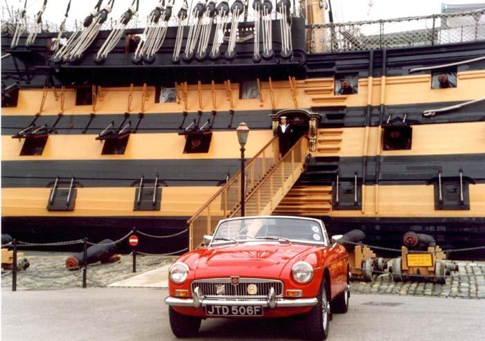 MGC at HMS Victory, HM Dockyard, Portsmouth, Hants.
