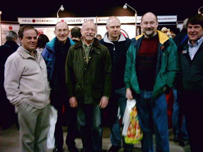 """Some of the BBSers meeting """"under the clock"""" at 12.00 while visiting the Stoneleigh show."""
