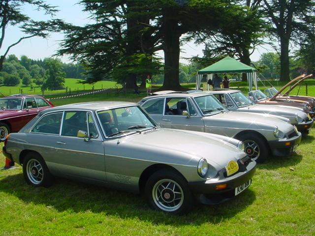 MGB GT LE's a Line up @ Highclere castle June 2005