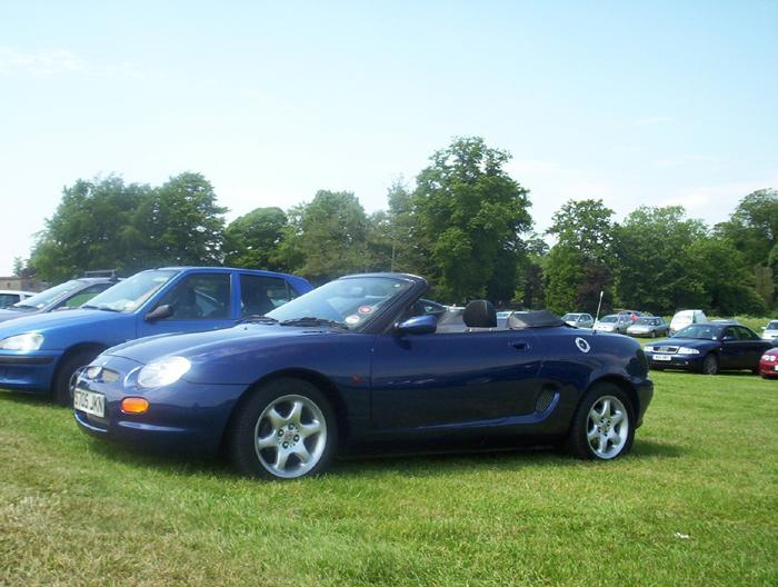 My new MGF at Sherbourne Castle car meet.