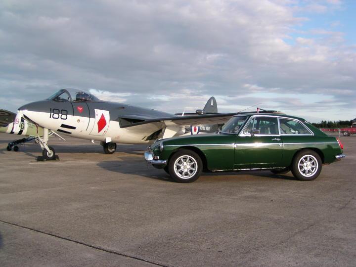 Sea Hawk at Yorkshire Air Museum Elvington makes the GT look BIG.