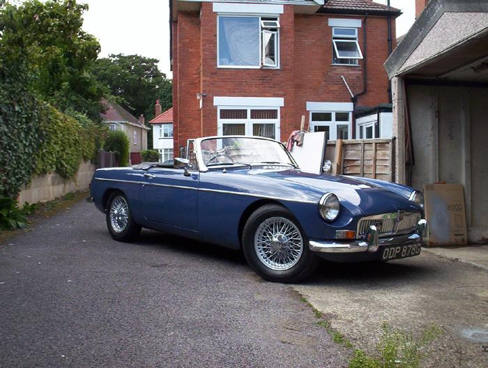 My new MGB, I must have the MG bug..sold the F for a B...