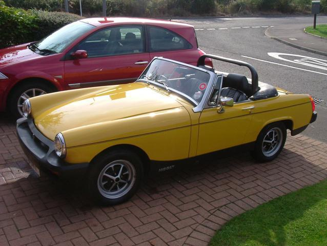 This is my Inca Yellow 1978 1500 Midget.