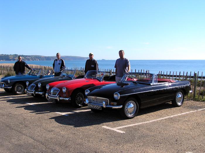 4 proud owners at Slapton Sands in Devon
