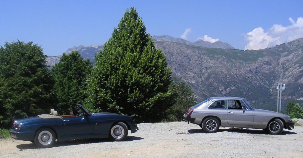MGs on MGOC Corsica trip