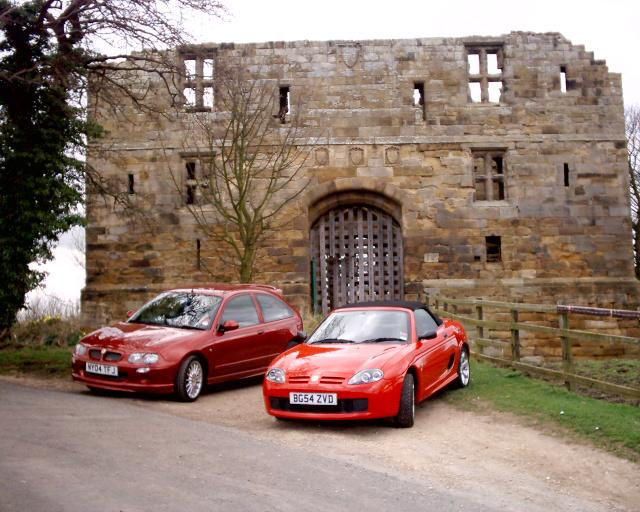 My ZR 105 and my girlfriends TF 115 at Whorlton Castle near Swainby in North Yorkshire.