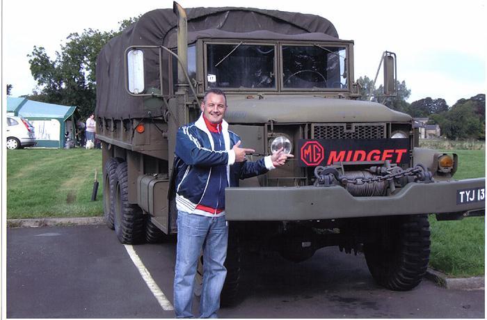DARREN WITH HIS NEW MG MIDGET