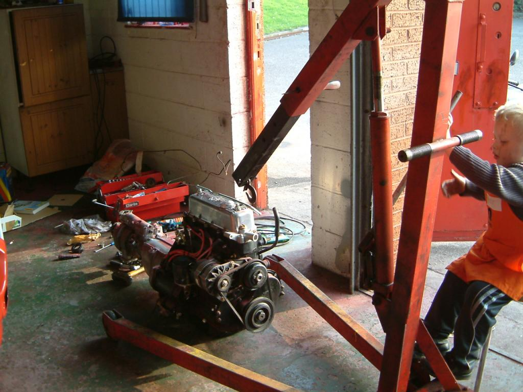 Me and my son rebuilding XNT48K onto a new bodyshell