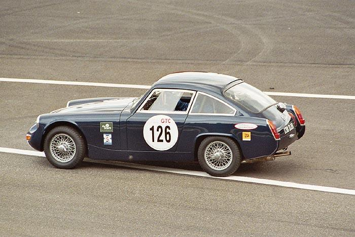 James Willis' closed MG at Spa/Francorchamps - side view