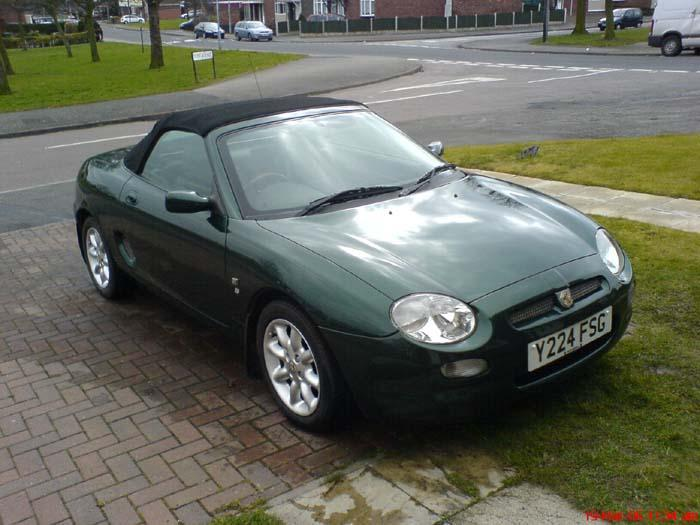 "This is another MG in the family...We have an ""MGA Roadster"",""MGB Roadster"", and now an MGF as well..."