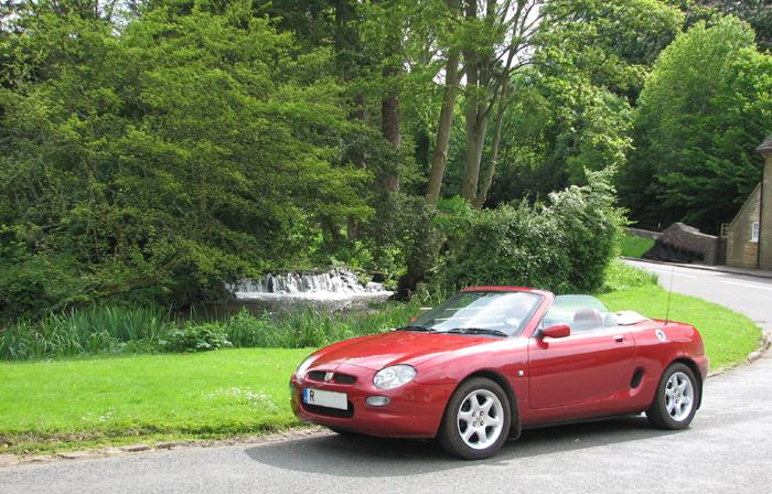 My MGF on location in Glympton Nr Woodstock, Oxon