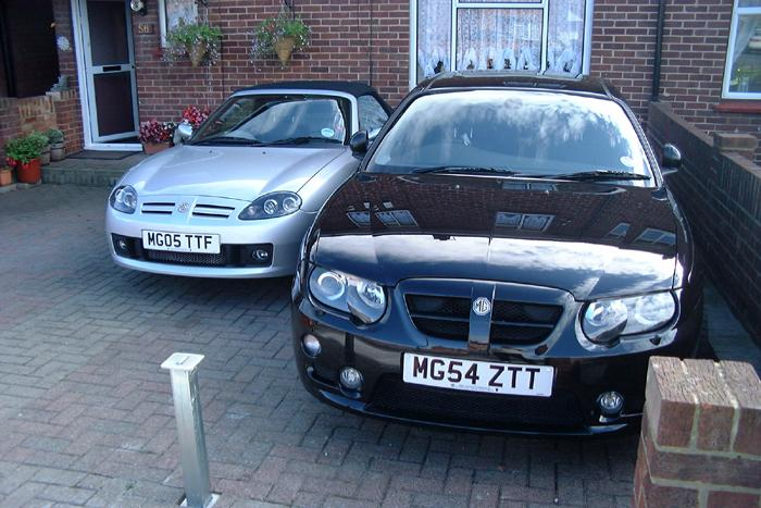 These are 2 of our MG's 180 Sport ZT SE and the 135 Sunstorm.