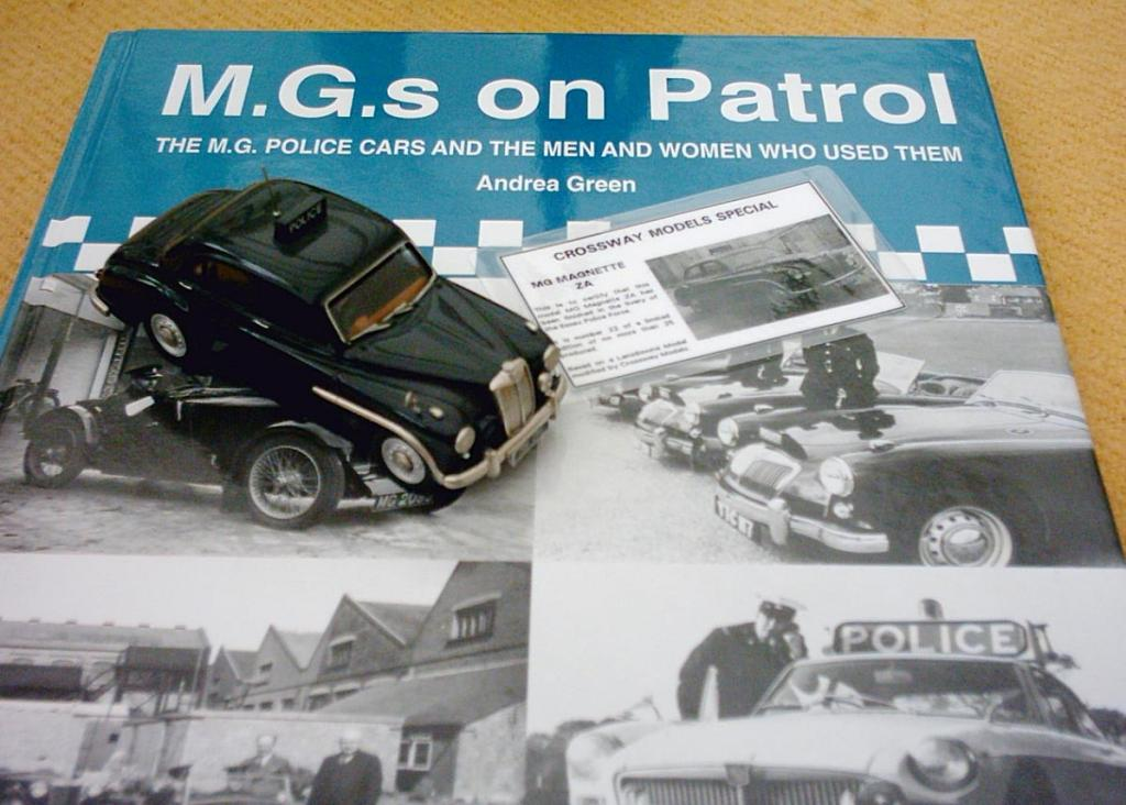 This is a terric white metal model of the Essex Police MG Magnette ZA as used on patrol from Chelmsford Police HQ. The model is limited to just 25 in total and was produced by Crossways of Lincolnshire. Part of my collection of Police vehicles, sadly the only MG I have left. Shown displayed on the book MG's on Patrol, which also features a photo of the real machine.