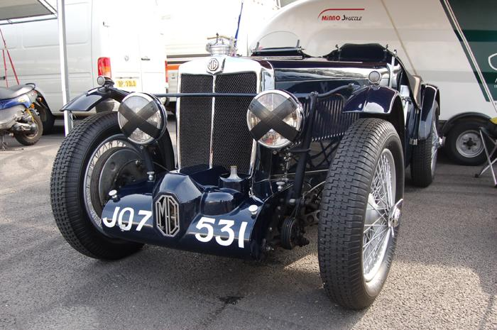 MG K2 in the paddock