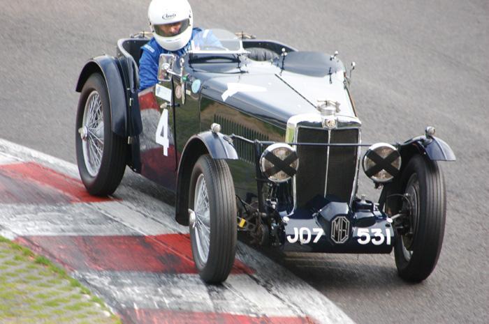 MG K2 at the bus stop chicane