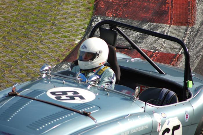 RAC Woodcote Trophy - Barry Sidery-Smith in 1954 Austin Healey 100M