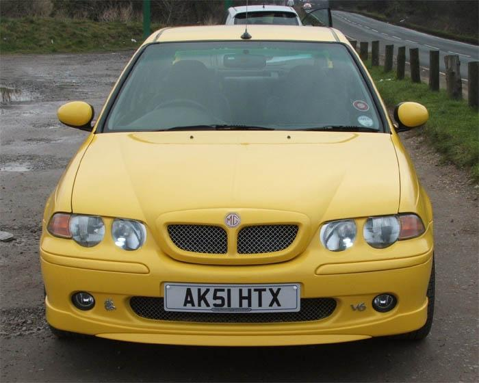 Front MG ZS 180 untouched but not for long