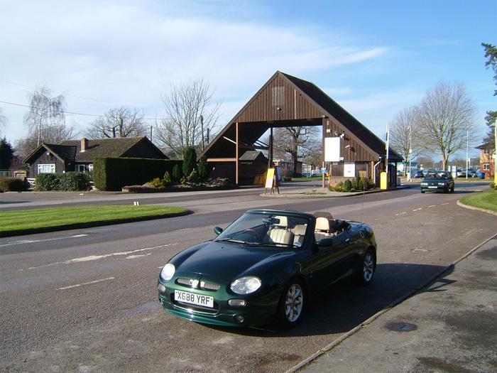 Outside Stonleigh Park entrance