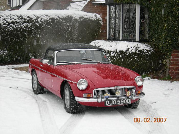 Always wanted a picture in the snow!!