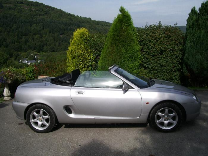 My MGF at home. Used all year round, except in snow. Great to drive, only 30k on clock. Reg. in 1999.