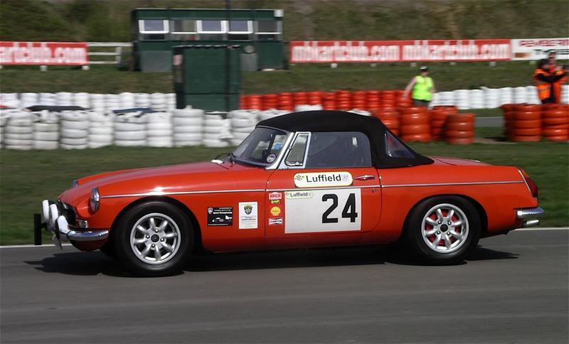 Photo taken by Gary Thomas of car and myself at the April Sprint at Three Sisters Circuit, Wigan.