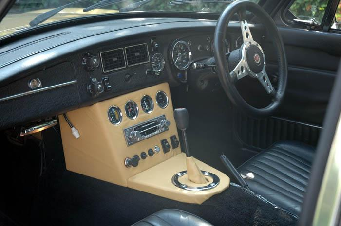 The interior modified