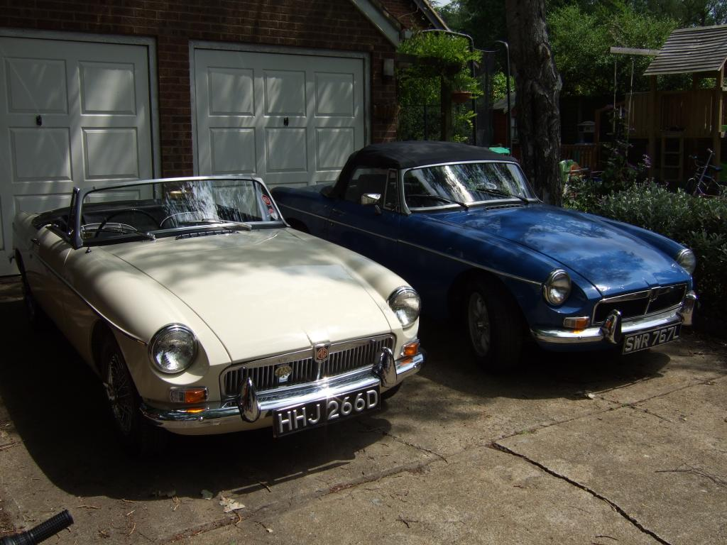 1966 old english white and potential blue MGB V8