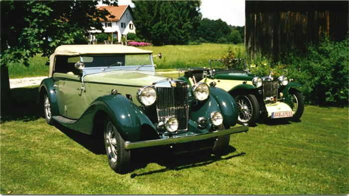 MG SA Charlesworth4 Seat Open Tourer(1936) andMG PA Midget (1934)in Bavaria/ Germany