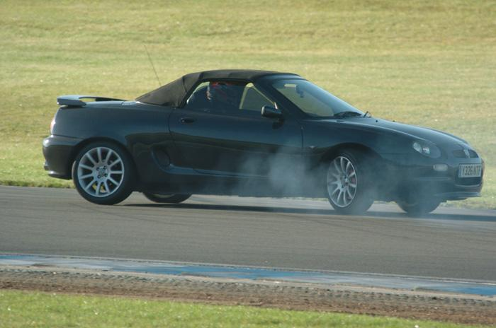 Spinning out at Donington. weeee!
