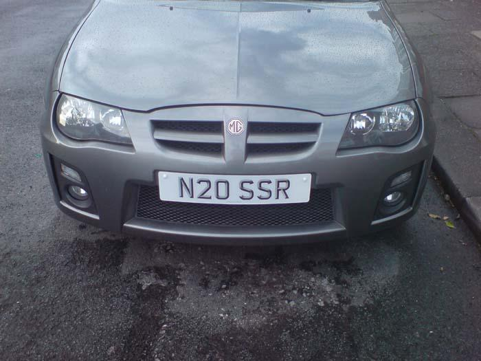 New reg plate on the car