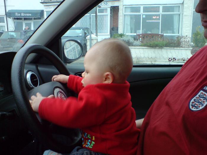 A budding MG driver