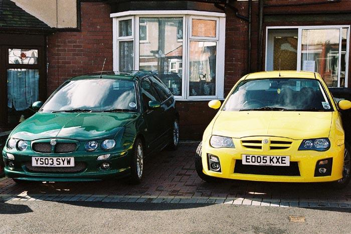 My new ZR parked alongside my girlfriends MkII ZR. What a lovely pair!