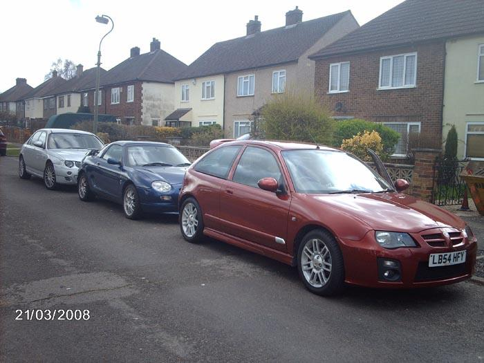 My MGF VVC sandwiched between my ZT190+ & my Father in laws ZR105+