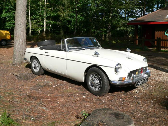Still going strong with over 200000 miles on the clock and very original. This 64 MGB, pictured in the New Forest, has made two trips to the Red Sea and back.