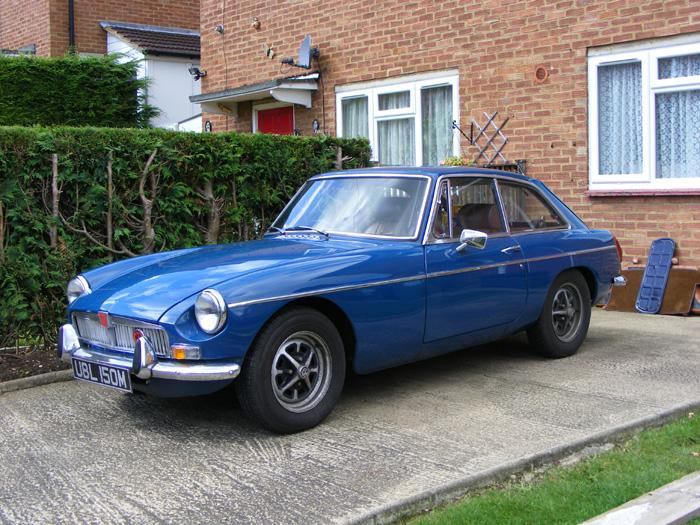 This is my 1974 MGBG GT as it was when I got it, now having some work done on it so it will be back on the road next year in mid 2009