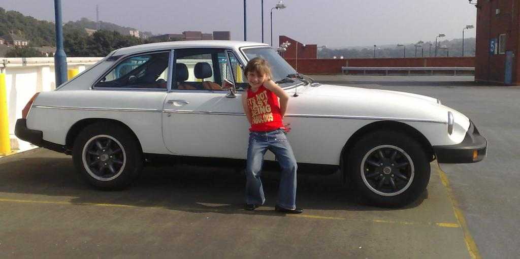 """my daughter Kire'ea(future owner of car) and """"Olivia"""" our 77 BGT"""
