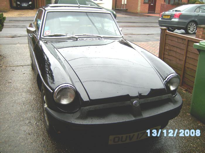 Front of our 1976 MGB GT.