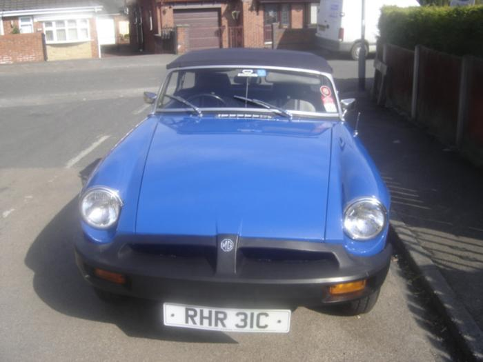 MY MG ROADSTER IN TAHITI BLUE REG NO IS TAY 925R IT HAS THE REG RHR 31C WHICH IS A PRIVATE No