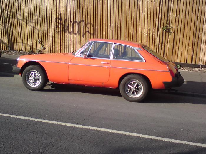 This is my MGB GT 1979 That I am restoring. Wait untill you see the finished car. I hope to have it all compleeted by the end of the month.