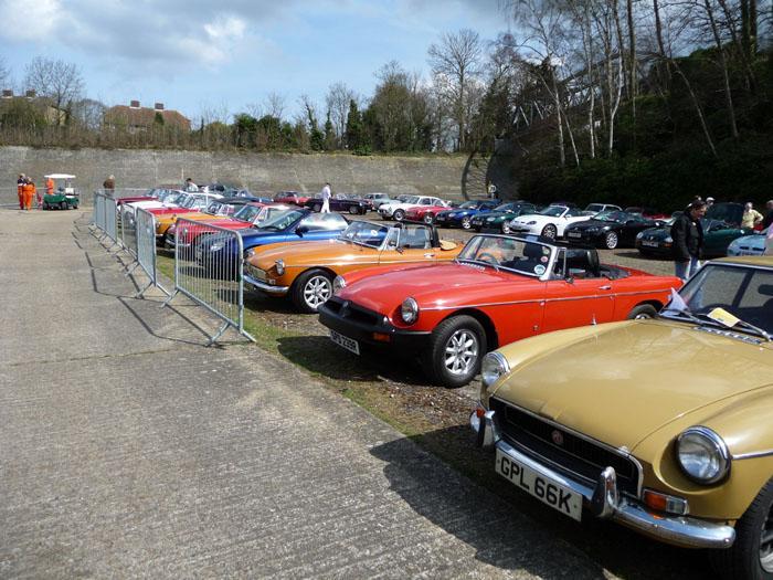 A nice line up of MGBs