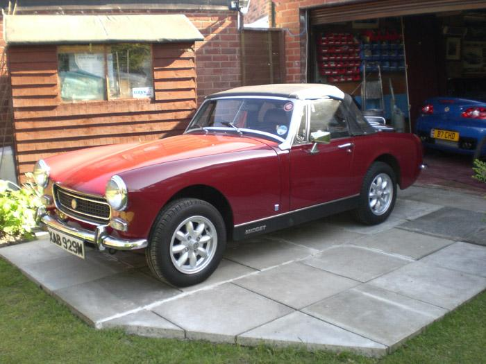 Here is my latest MG, great little car and compliments my TF160 for classic rallies.