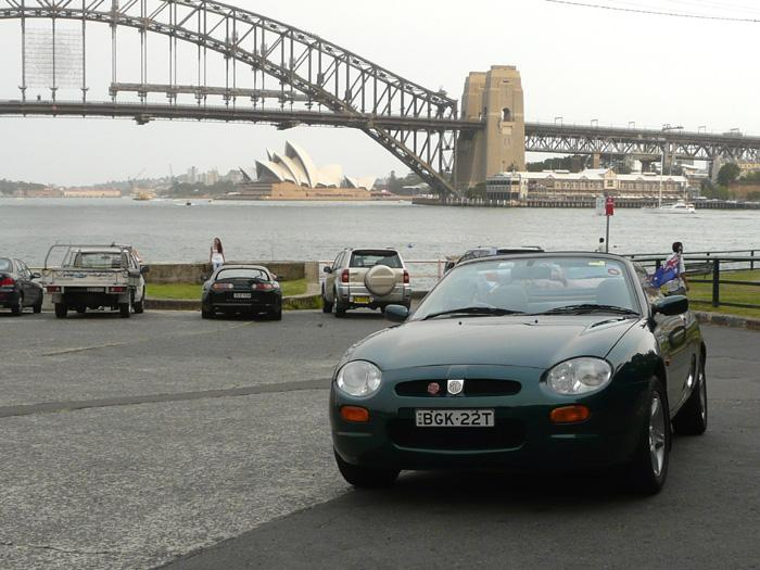 The beast, now beauty takes her poorer but now happy owner for a tour of old Sydney Town...